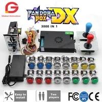 2 player kit sanwa joystickchrome led push buttonoriginal pandora box dx coin acceptor for arcade machine cabinet with manual
