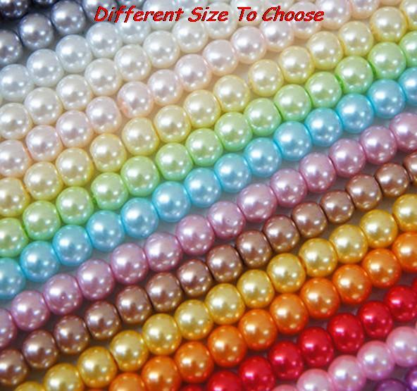 Collar grueso que hace imitación de acrílico de color mezclado 6mm 8mm 10mm 20mm ABS perlas redondas perlas de resina envío gratis joyas DIY