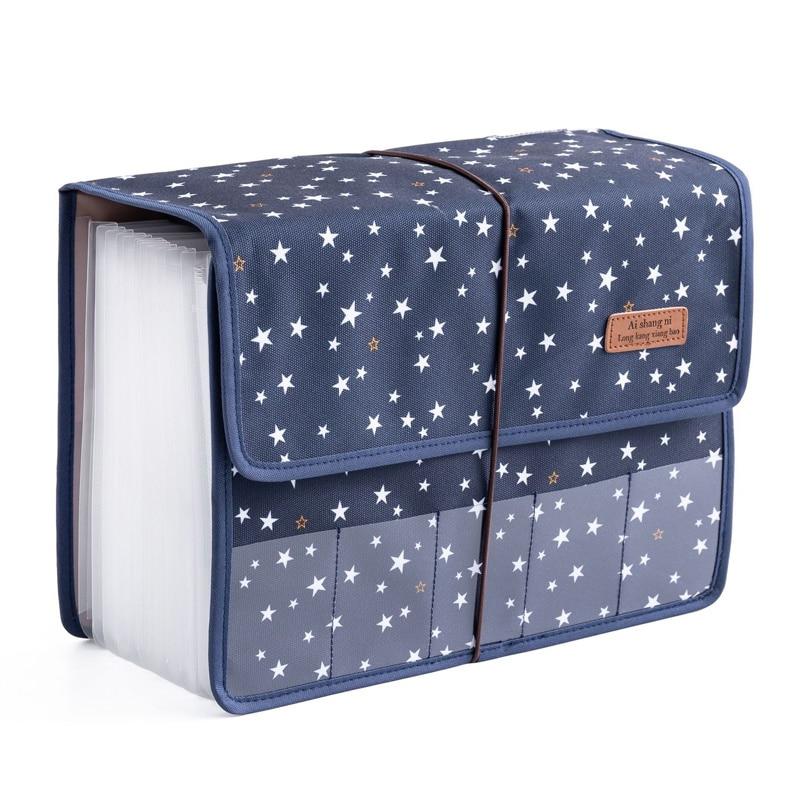 Large capacity A4 extended folder, expandable file folder, 12 Bag Laptop, Oxford briefcase, organizer, bag support