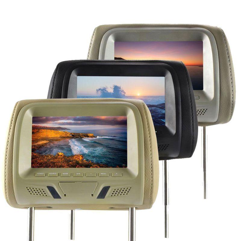 Универсальный 7-дюймовый светодиодный экран, автомобильный MP5 плеер, подголовник, монитор, Поддержка AV/USB/SD G8TE