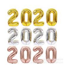 Ensemble de ballons numériques extra large   2020, 40 pouces, ballon en aluminium pour la décoration de fête du nouvel an, fête de vacances
