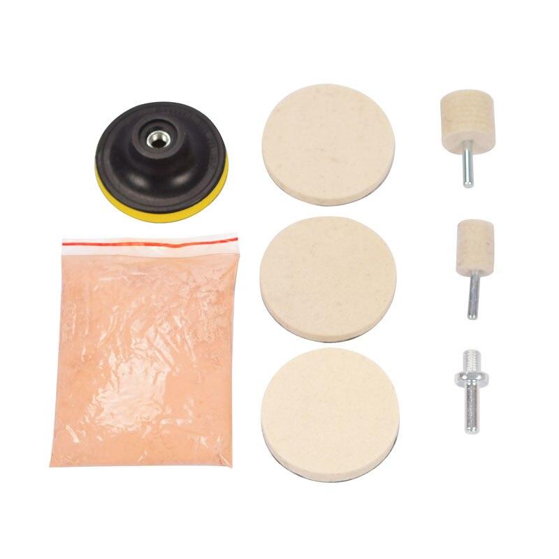 Polimento de Vidro em pó Removedor de Zero para Brisas Remoção do Zero 120g de Óxido de Cério Kit para Janelas de Vidro de Limpeza Profunda 8pcs