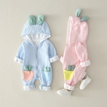 YG brand children's new hooded Jumpsuit children's creeping suit baby cactus one piece suit