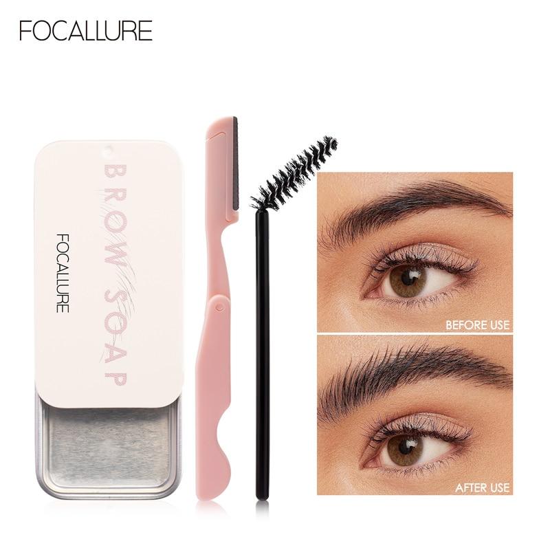FOCALLURE Eyebrow gel Brows Wax Waterproof Long-Lasting 3D Feathery Wild Brow Styling Soap For Eyebrows Women's Cosmetics