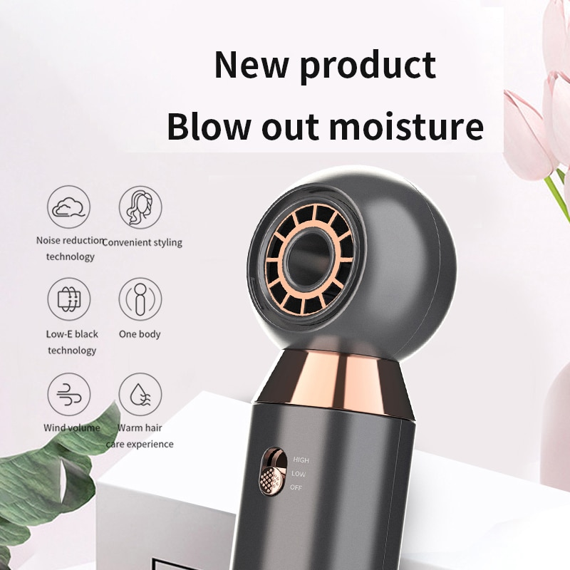 800W Leafless Strong Wind hair blower dryer Professional Hair dryer Quick Drying...