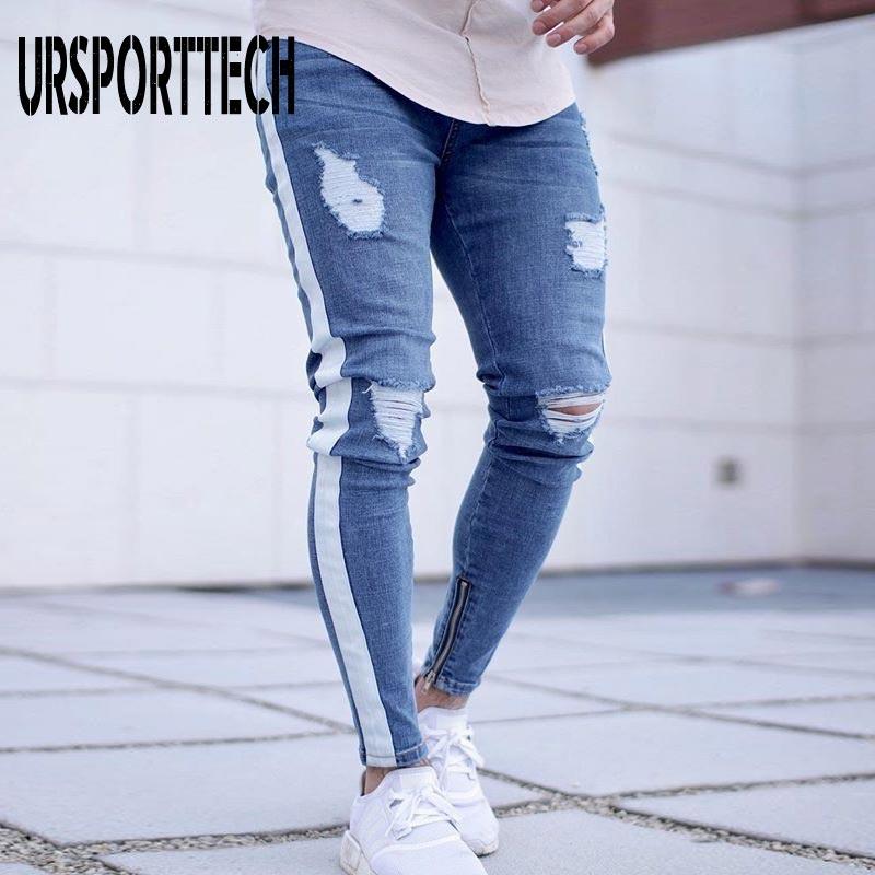 Брюки-карго из джинсовой ткани, мужские уличные брюки в стиле хип-хоп, штаны для бега в стиле ретро, мужские брюки, зауженные повседневные уз...
