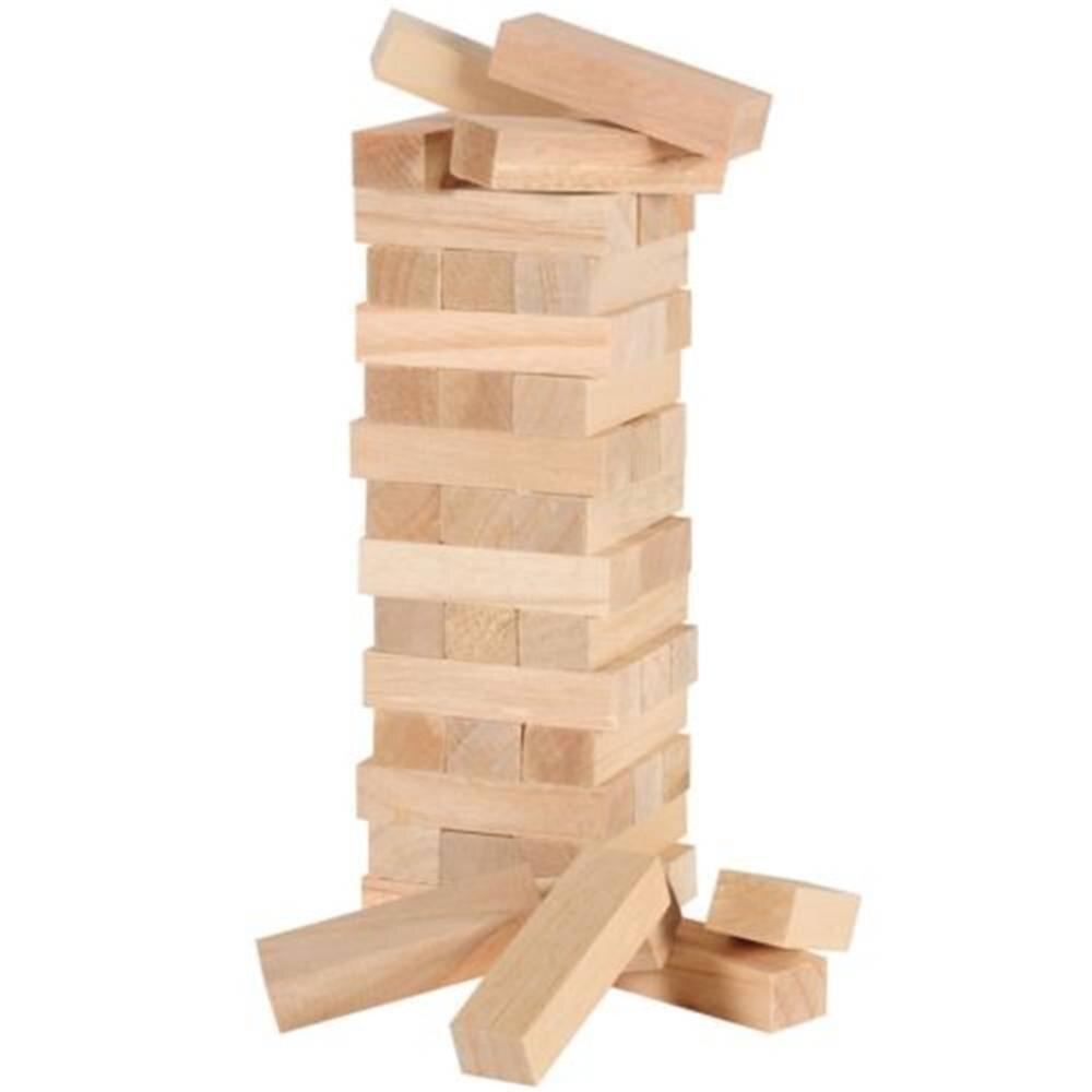 Bloques de construcción de 48 Uds. Jenga de madera juego para el cerebro de juguete regalo de equilibrio clásico juego de niños Juego de mesa juego de juguetes de inteligencia para niños bloques