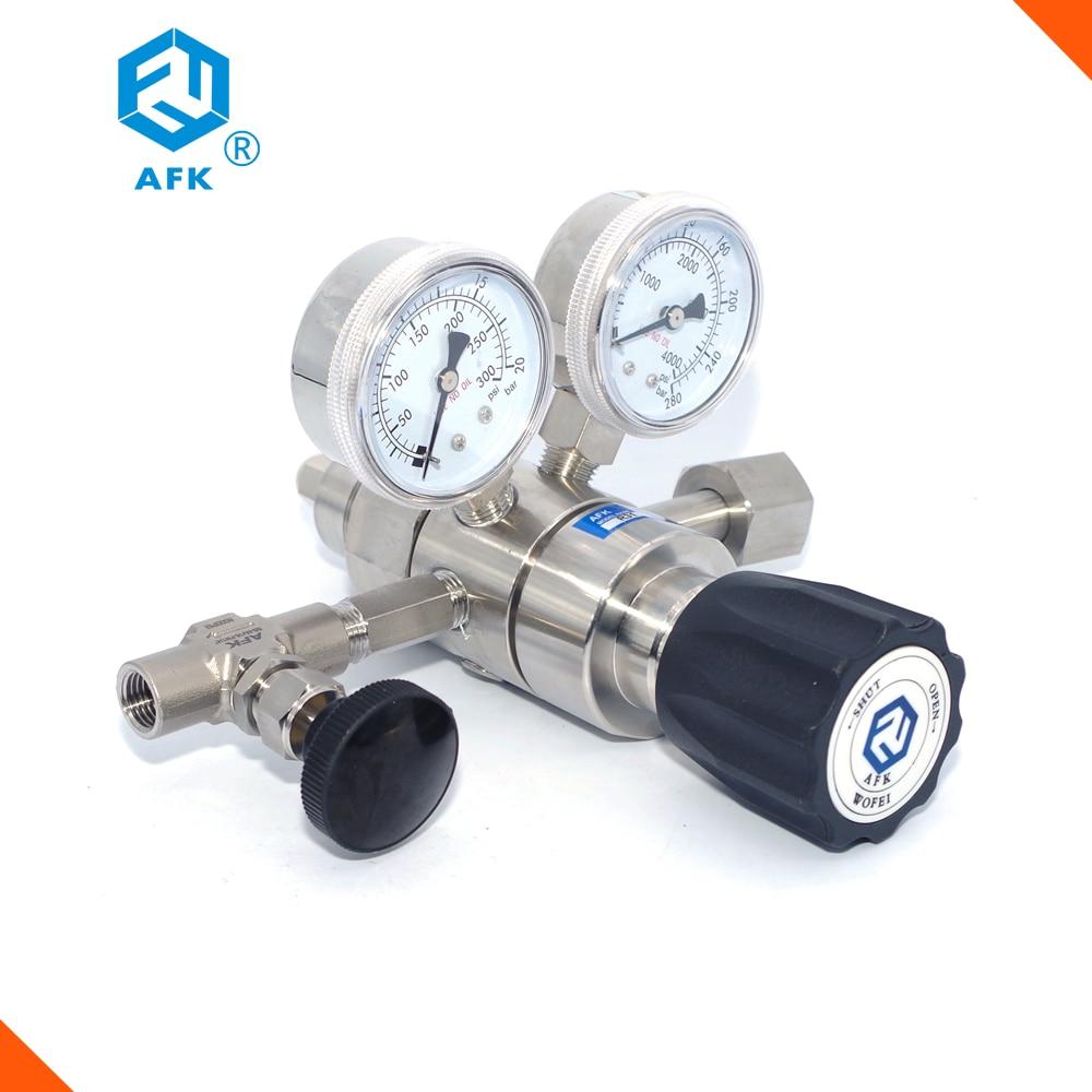 4000PSi مدخل 30PSI منفذ ارتفاع ضغط الفولاذ المقاوم للصدأ 316L منظم الغاز الأمونيا