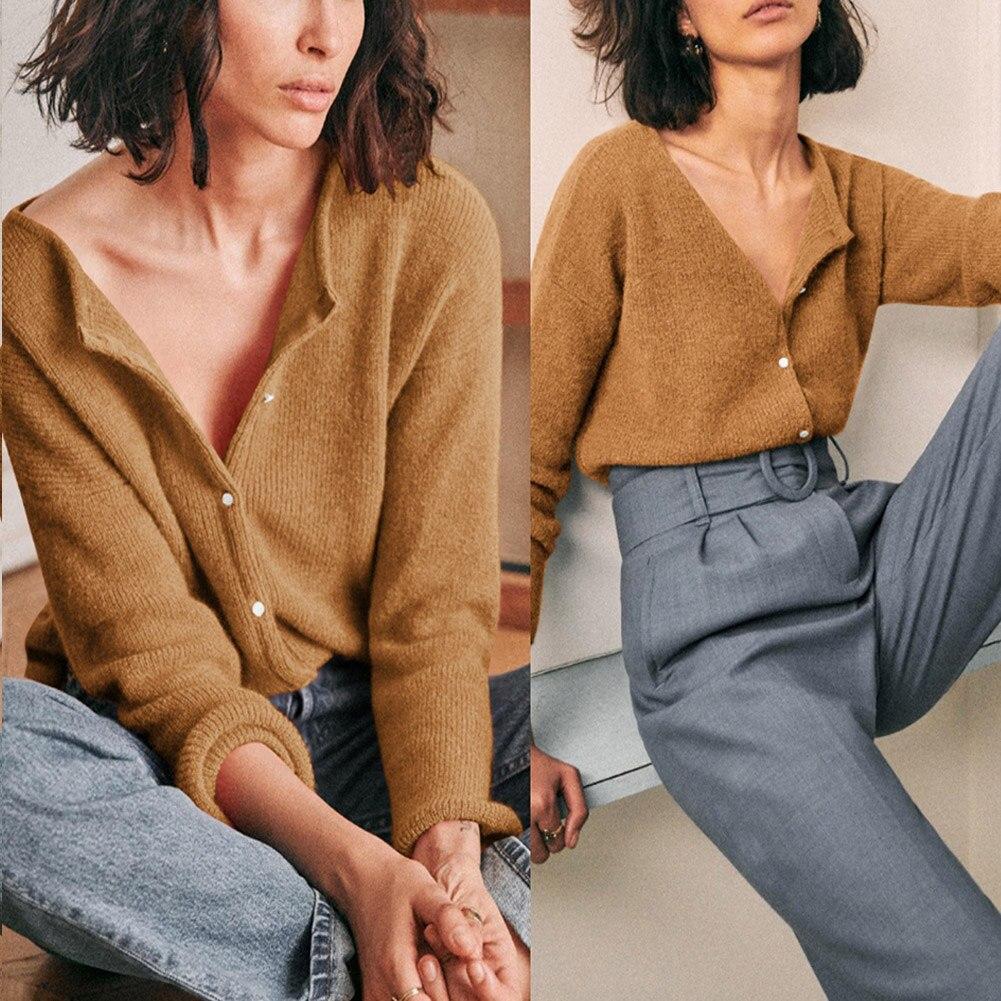 Camisola de lã de malha feminina simples cor sólida topos moda roupas básicas k2