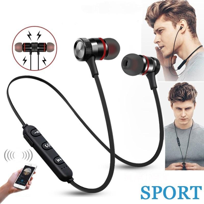 Fone de ouvido sem fio bluetooth esporte estéreo magnético fone para iphone xiaomi huawei honra samsung redmi