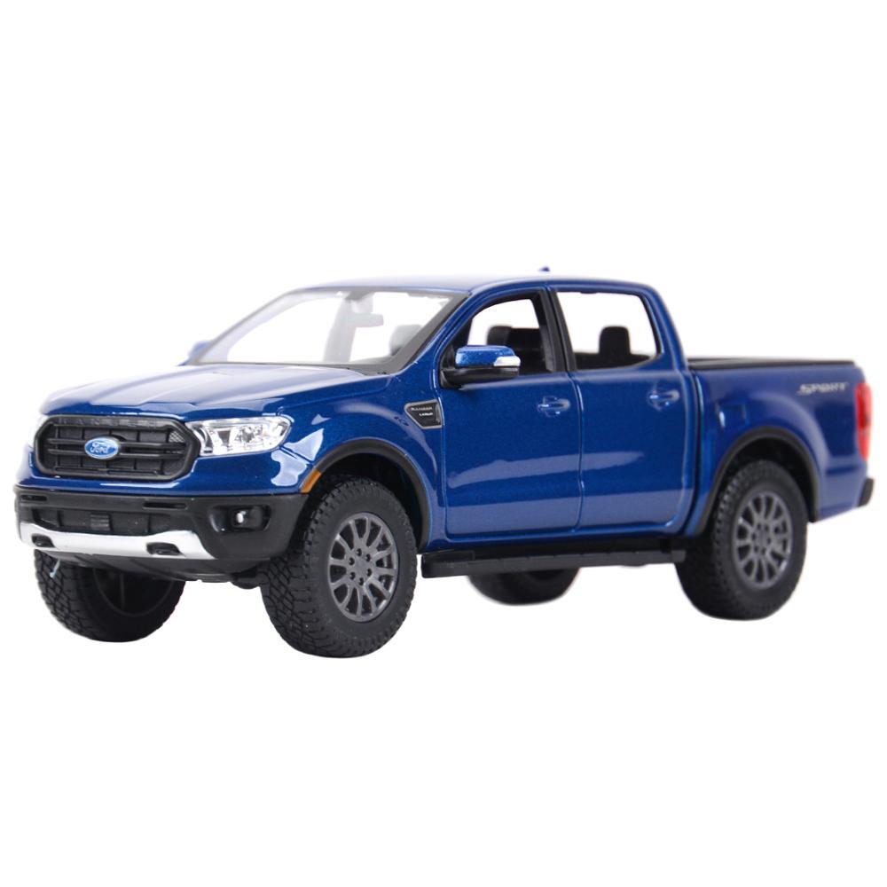 Maisto 127 2019, Ford Ranger, juguetes para coches de modelos coleccionables, vehículos de fundición a presión estática