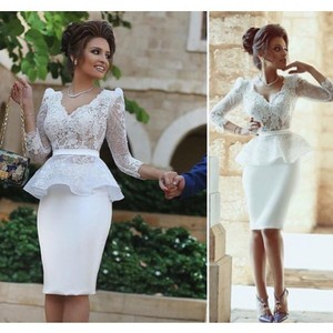 Evening Cocktail Homecoming Prom Dresses 2020 Woman's Party Night Celebrity Formal Dresses Plus Size Short Dubai Arabic Dress