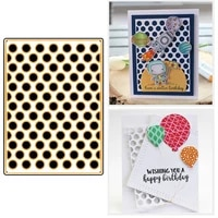 metal cutting dies circle dot background for diy scrapbooking crafts decorative album template making die cut 2019 hot sell