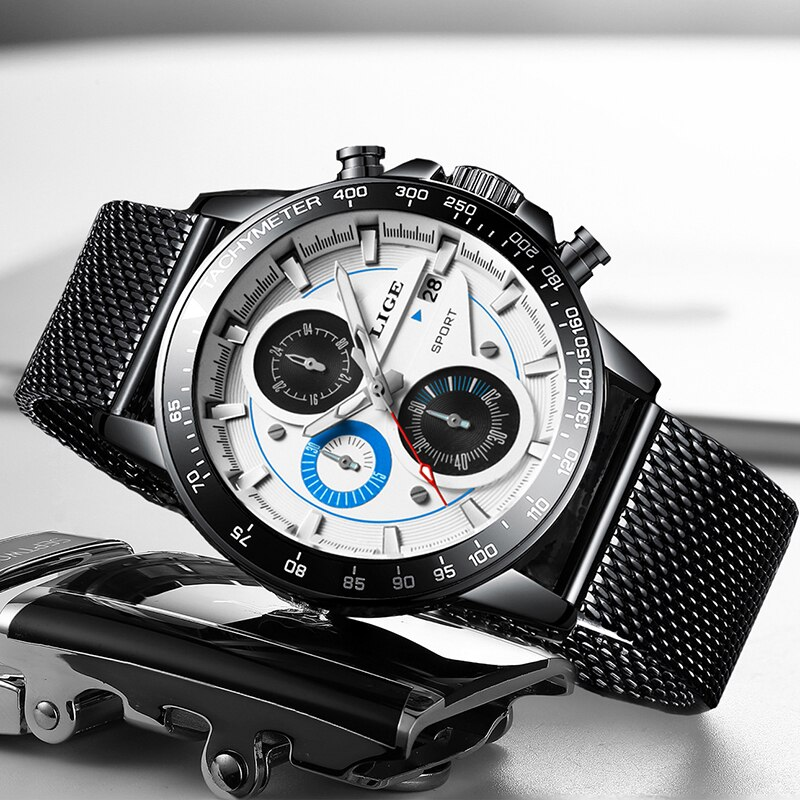2020 LIGE Casual Sport Watches Mens Waterproof Clock Top Brand Luxury Men watch automatic Date Quartz Watches Relogio Masculino