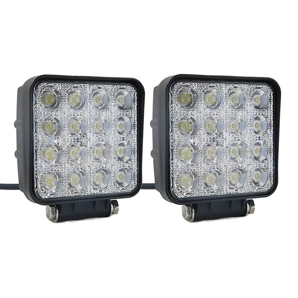 12/24V 16LED Barra de luz de trabajo de plástico Shell Worklight Spotlight lámpara vehículos fuera de carretera LED Luz de coche de trabajo para Ford Toyota SUV