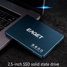 EAGET S600 SSD 128GB 256GB 512GB 2.5 inch SATAIII HDD Hard Disk HD SSD Notebook PC 1TB 2TB Internal Solid State Drive