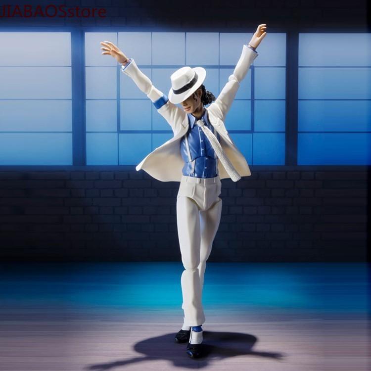 hot king of pop tamashii nations shfiguarts artist michael jackson smooth criminal shf action figure toys Male God Michl SHF Michael Jackson Smooth Criminal Moonwalk Anti-gravity Action Figure Model Toy Doll Garage Kit Decoration