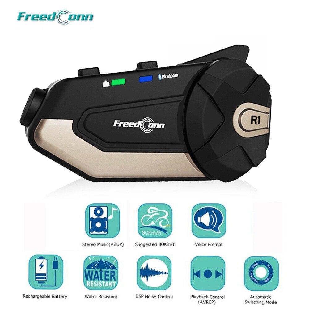 FreedConn-سماعة رأس بلوتوث R1 للدراجات النارية ، وجهاز اتصال للخوذة ، والاتصال الداخلي ، والفيديو ، وواي فاي ، وفيديو عالي الدقة 1080 بكسل ، وتسجيل