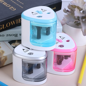 Electric Auto Pen Sharpener Double Hole Sharpener Touch Switch For 6-12mm Pencil