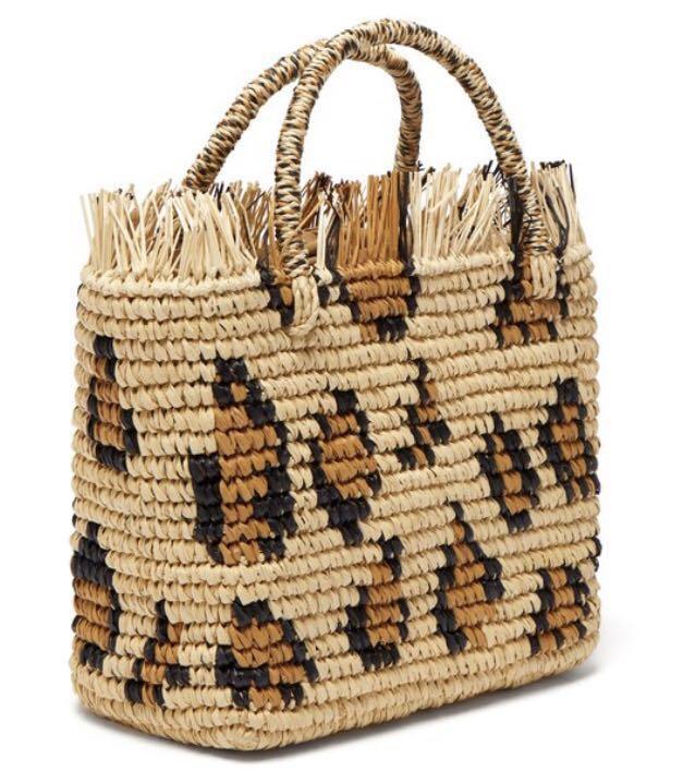 Leopard tassel edging raffia straw Beach Bag Woven Shoulder Bag Raffia Circle Rattan Bags Bohemian Summer Vacation Casual bag