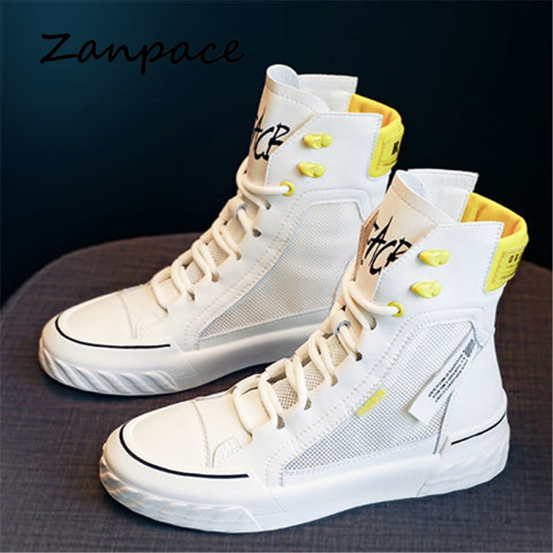 ZANPACE 2021Platform Women's Sneakers New Spring Canvas Lace-Up Vulcanized Shoes Summer Breathable White Casual Women Shoes