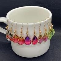 crochet earrings 10 5mm 18mm geometric drop shape cute charm pendant ladies fashion jewelry set used for wedding banquet