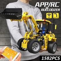mould king 13122s 13122 high tech car toys the app rc moc 0836 bulldozer model 20006 building blocks bricks kids christmas gifts