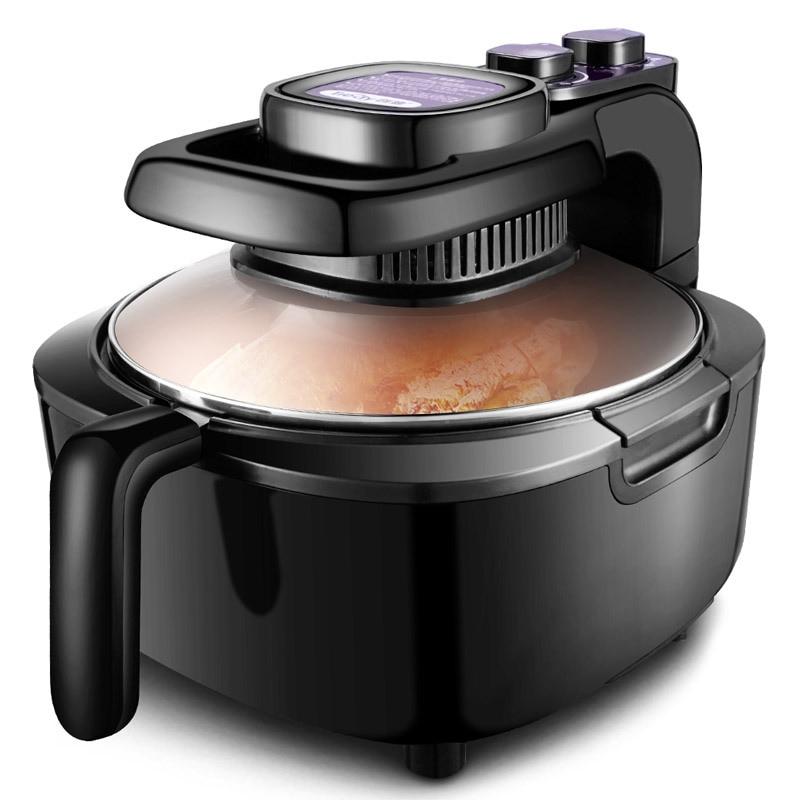 5L سعة كبيرة المقلاة الهواء لا النفط المنزل الذكي متعددة الوظائف مقلاة كهربائية عميقة دون النفط خالية من الدخان آلة البطاطس