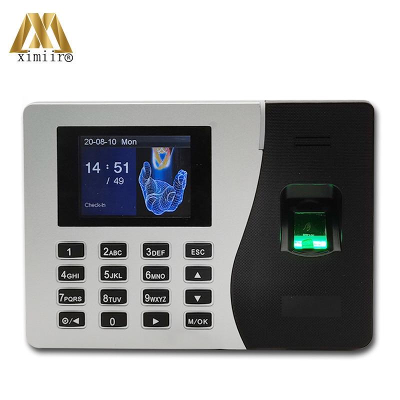 TCP/IP Biometric Fingerprint Time Attendance K14 Smart Attendance Clock Employee Recognition Recording Device Electronic Machine