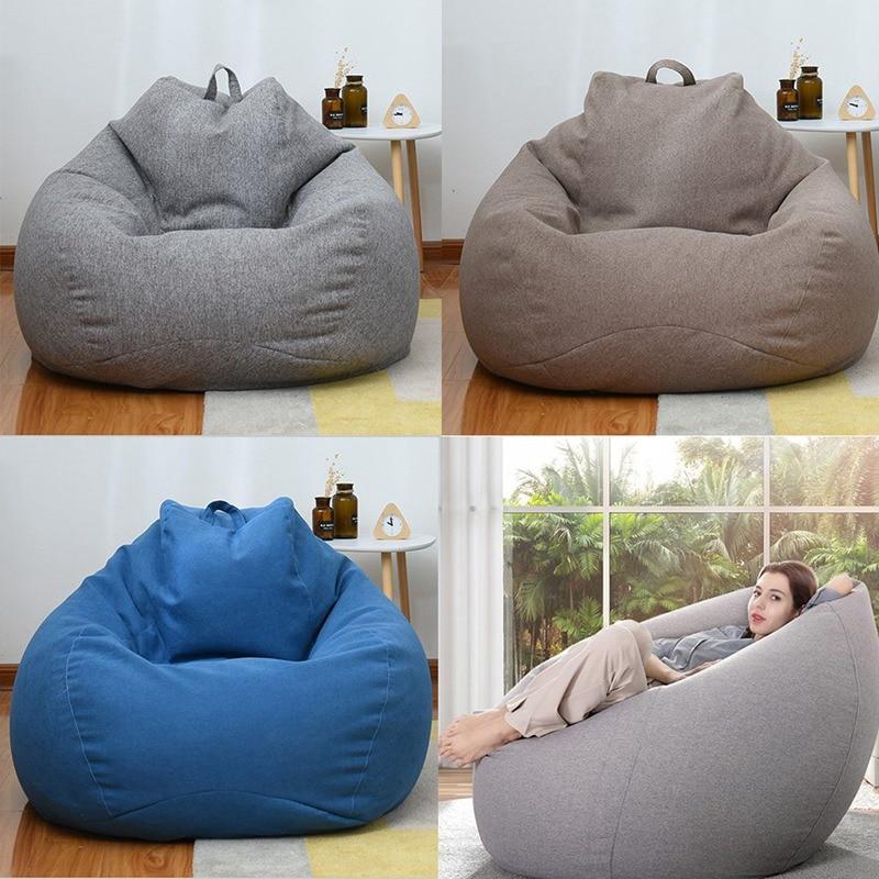 Чехол для кресла, дивана, чехол для кресла для отдыха, чехол для стула для хранения для взрослых и детей без наполнения, пуф для гостиной