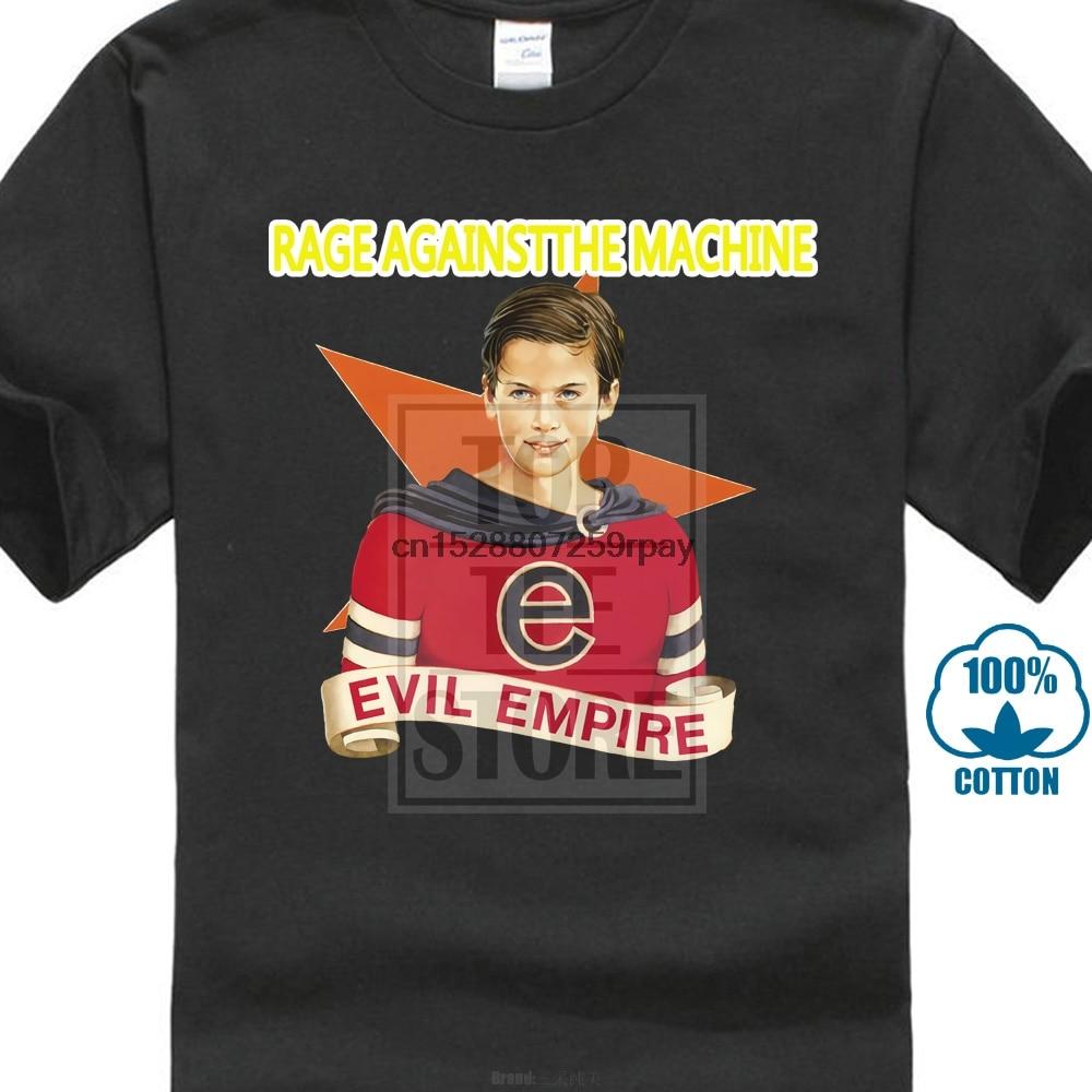 Camisetas Personalizadas baratas para hombres Rage Against The Machine banda de Rock imperio malvado camisetas cortas con gráfico de cuello redondo