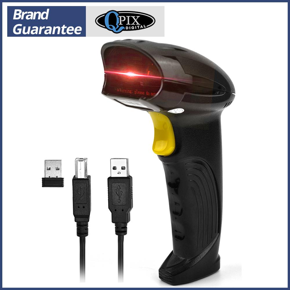 Escáner de código de barras inalámbrico, lector de código de barras automático láser USB, de sujeción manual, leitor de código de barra