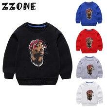 Enfants Hoodies Enfants Tupac 2pac Hip Hop Style Sweat-Shirts Bébé Coton Hauts Pullover Filles Garçons Vêtements Dautomne, KYT287