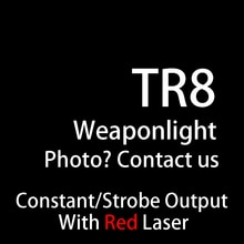 Tactique TLR pleine taille LED arme lumière avec visée Laser rouge pour pistolet chasse Glock 1 8 lampe de poche Laser