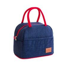 Tote öğle yemeği çantası termal yalıtımlı beslenme çantası soğutucu çanta Bento kılıfı yemek konteyner gıda saklama çantası