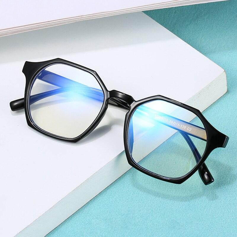 Очки женские оптические многоугольные с блокировкой сисветильник, 2021