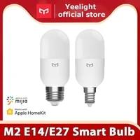 Yeelight     ampoule intelligente M2  Bluetooth Mesh Version E27 E14  lampe a intensite variable  temperature de couleur  controle par application  fonctionne avec Homekit Mi Home