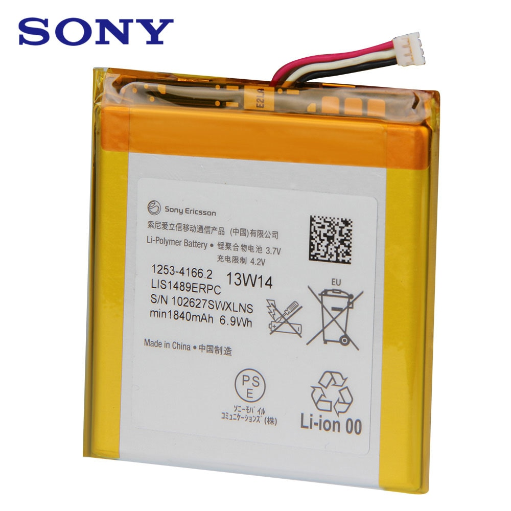 Original Replacement Phone Battery For SONY LT26 LT26w Xperia acro HD SO-03D LIS1489ERPC Authentic Rechargeable Battery 1840mAh enlarge