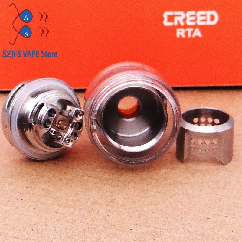 Creed RTA Tank 6.5ML  25mm Single/Dual Coil Bubble Glass Tube Atomizer Alien Mod Vape Vaporizer Vs Zeus x mesh RTA enlarge