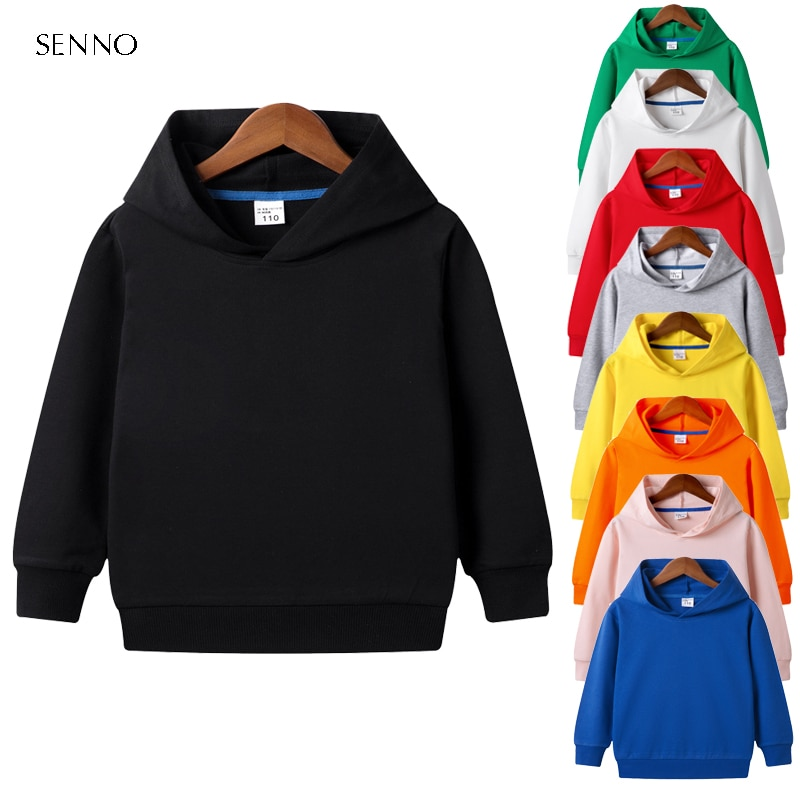 9 Colors Autumn Early Winter Coat Toddler Baby Kids Boys Girls Clothes Hooded Solid Plain Hoodie Sweatshirt Tops 2020 New spring autumn baby boys girls clothes toddler baby kids hooded cartoon 3d ear hoodie sweatshirt tops clothes infant clothing