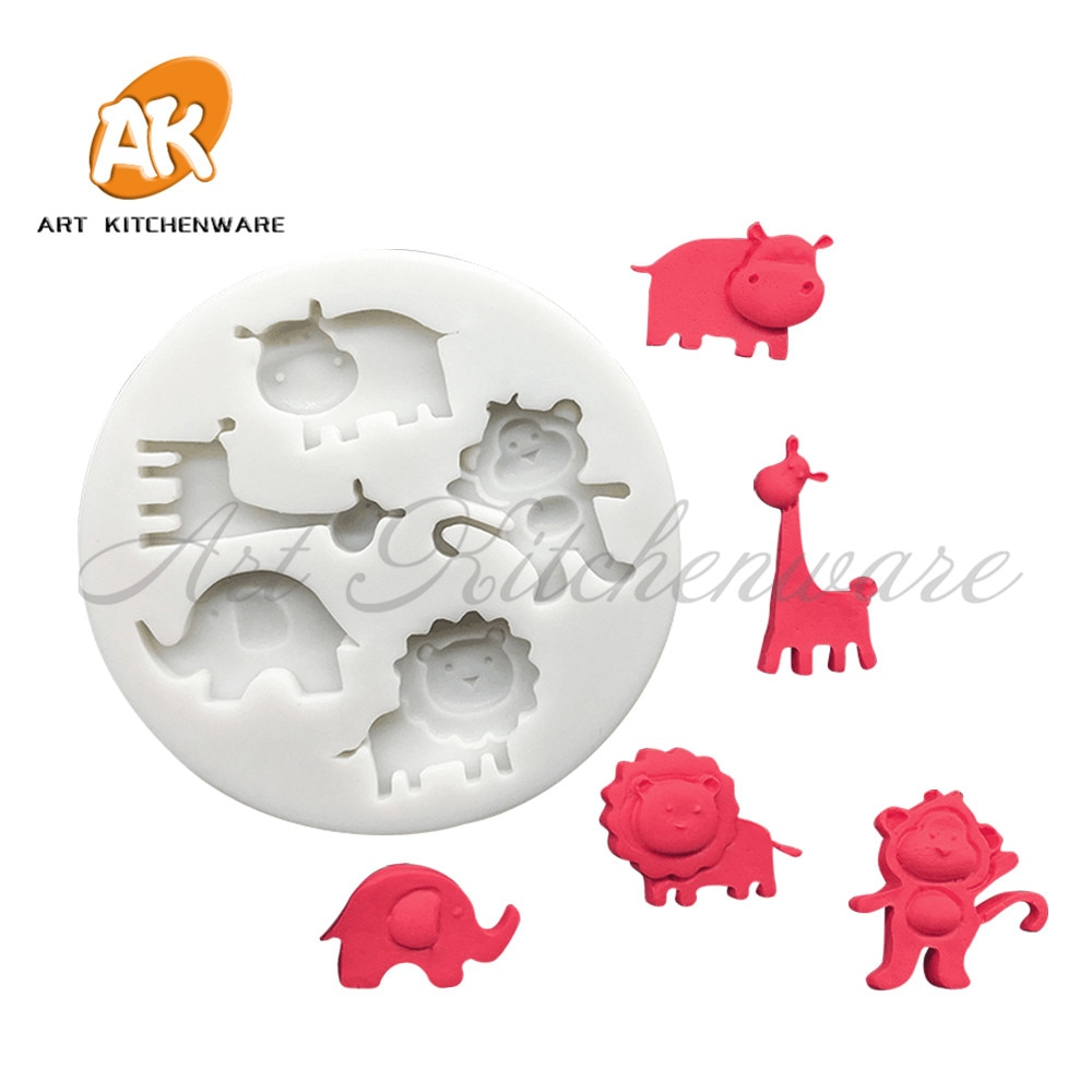 Jungle Animal Silicone Cake Molds Fondant Chocolate Mousse Mould Cake Decorating Supplies Baking & Pastry Tool