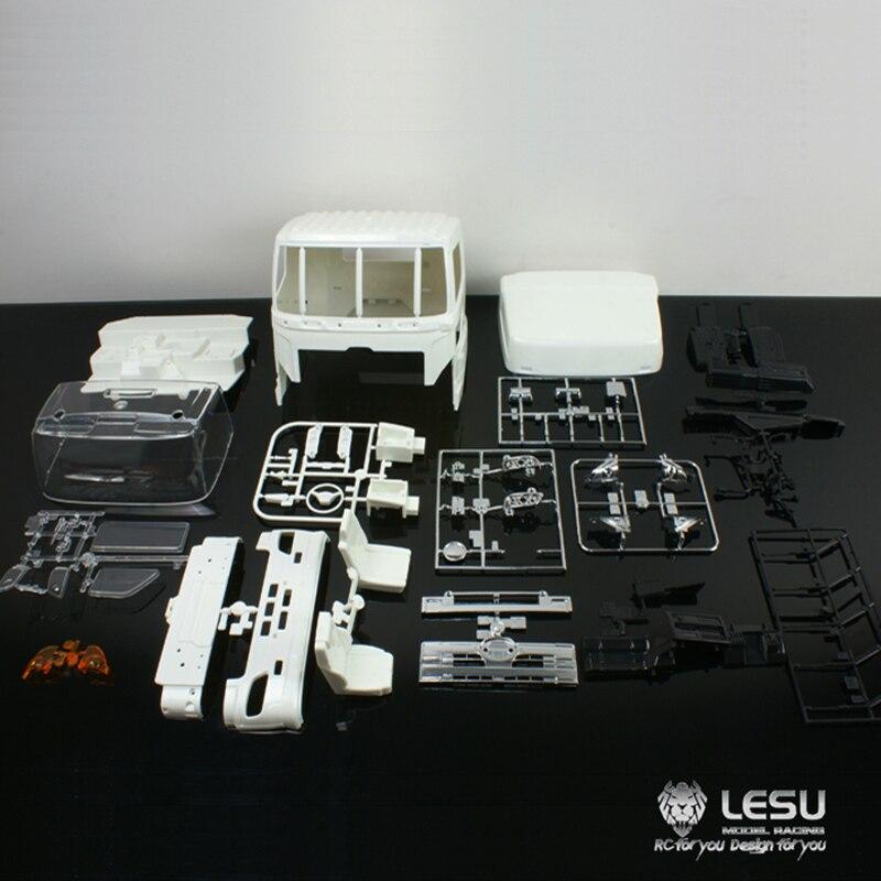 LESU Plastic Cabin Body for 1/14 TAMIYA RC HINO700 Dumper Tractor Truck Model