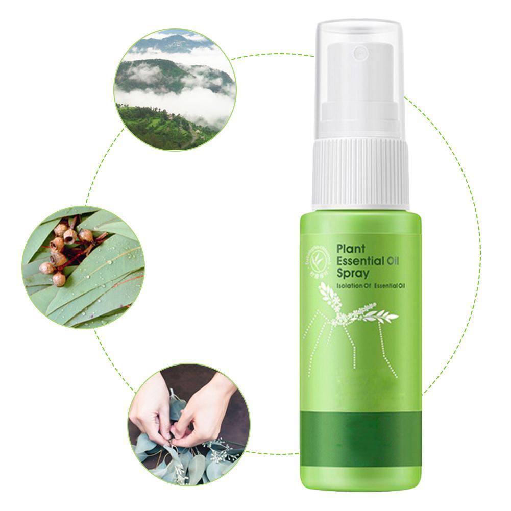 Repelente de mosquitos de 32ML, repelente de mosquitos Natural esencial para exteriores, hecho de Spray de aceite esencial para insectos para montañismo