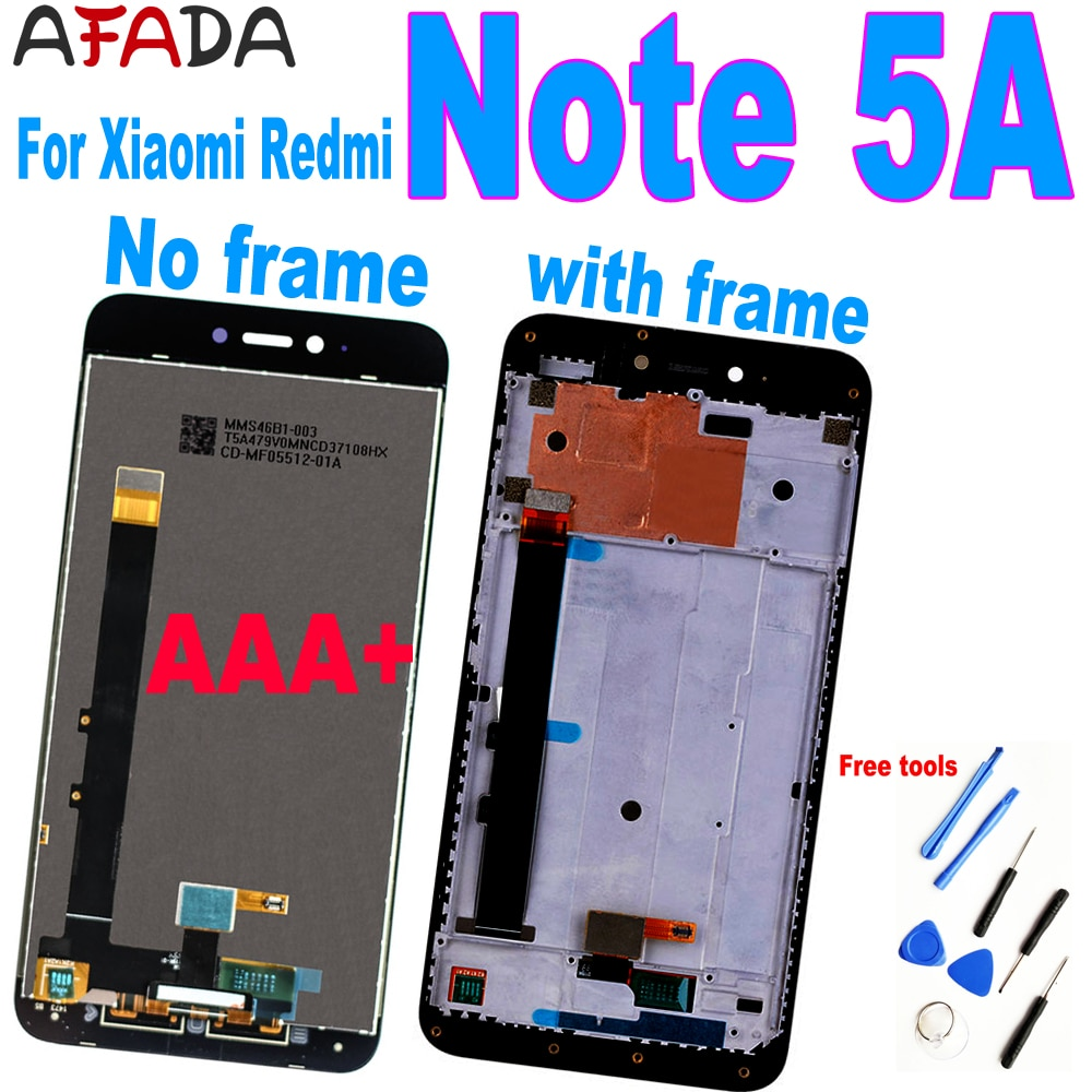 5.5 Inch For Xiaomi Redmi Note 5A LCD Display Touch Screen Digitizer Assembly For Redmi Note 5A Prime Y1 / Y1 Lite Note5A LCD original lcd frame for xiaomi redmi 5a lcd display screen replacement for redmi 5a screen digiziter assembly aaa quality