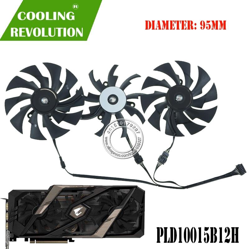 PLD10015B12H DC12V graphics card fan for Gigabyte AORUS GeForce RTX 2060 SUPER RTX 2070 SUPER RTX 2080 SUPER RTX 2080Ti XTREME