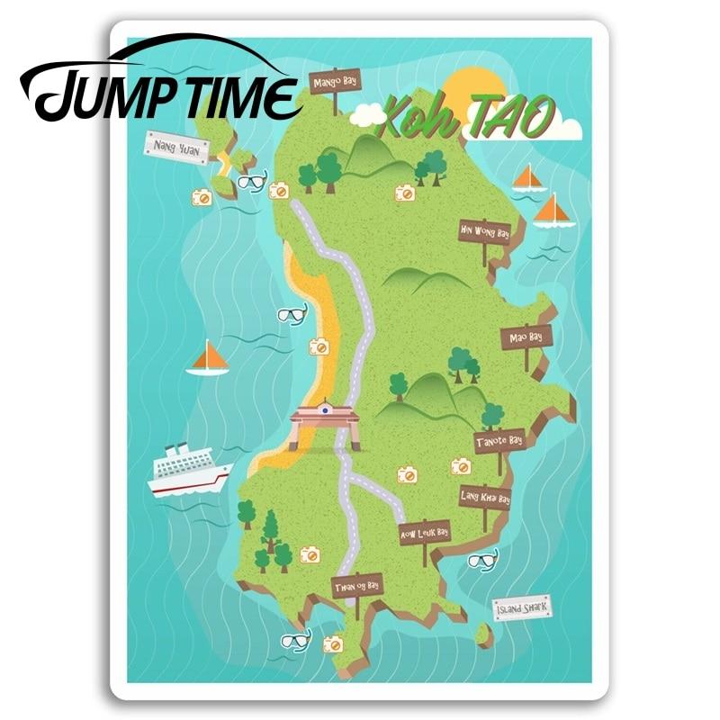 Pegatinas de vinilo para Jump Time, etiqueta de viaje tailandesa para ordenador portátil, equipaje, parachoques, ventana, accesorios para coche