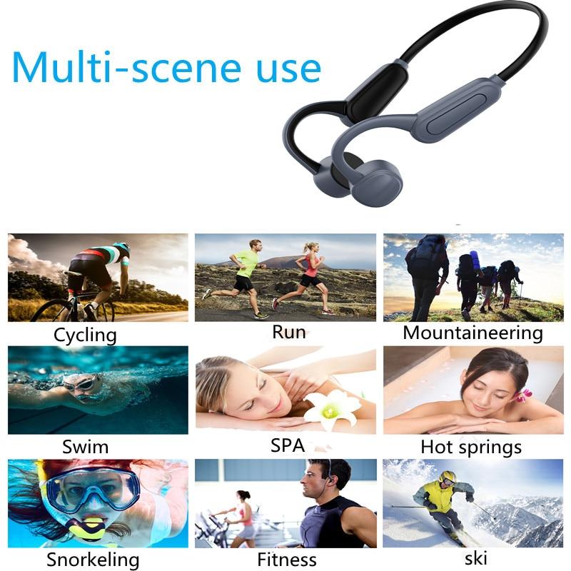 K8 Bone Conduction Wireless Bluetooth Headset, IPX8 Waterproof Swimming Headset, Sports Headset, 16GB Memory MP3 Player enlarge