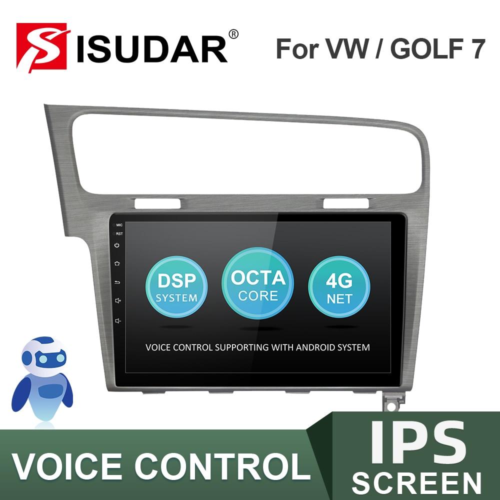 ISUDAR-راديو السيارة متعدد الوسائط GPS للسيارة ، راديو مع كاميرا DVR ، 2 din ، Android ، 2GB RAM ، 32GB ROM ، IPS ، FM ، لـ VW/Volkswagen/Golf 7 ، V57S