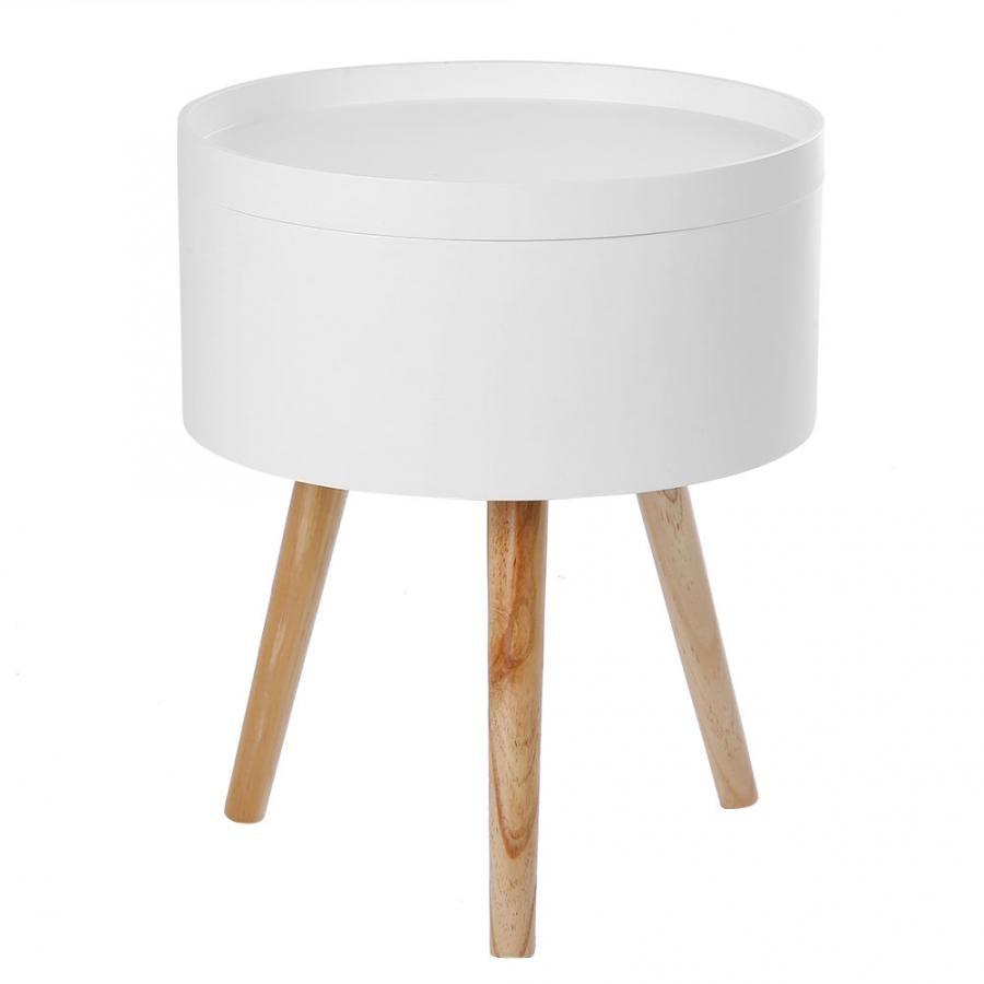 Современный стиль твердый стол для хранения круглый журнальный столик с