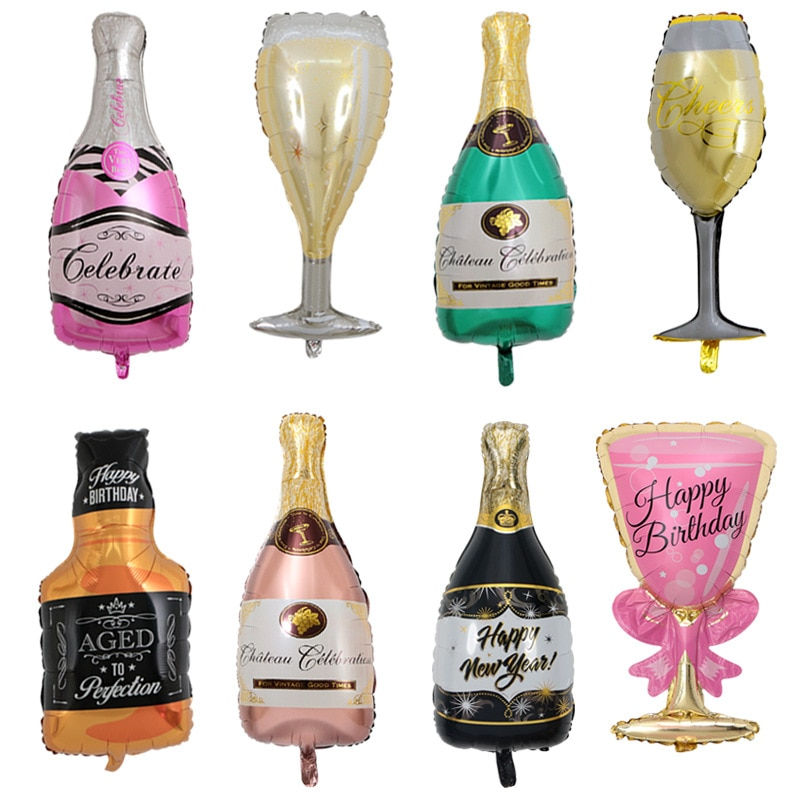 40CM * 100CM champán vidrio aluminio globo copa vino botella globos de papel de aluminio boda cumpleaños fiesta DIY suministros de decoración
